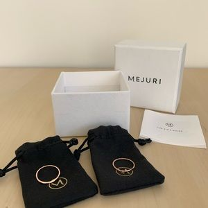 NEW Mejuri Rings, Ring size 7, Solid Rose Gold
